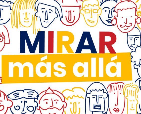 MIRAR más allá y dibujos de personas diferentes